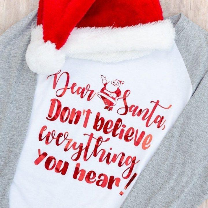How to Make a DIY Santa Claus T-shirt with Cricut/Cameo
