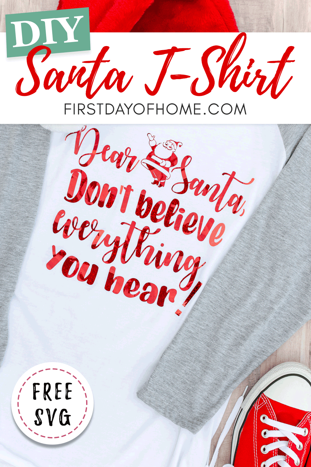 Free Santa SVG file for t-shirts, mugs and other DIY gifts