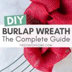 Burlap wreath tutorial