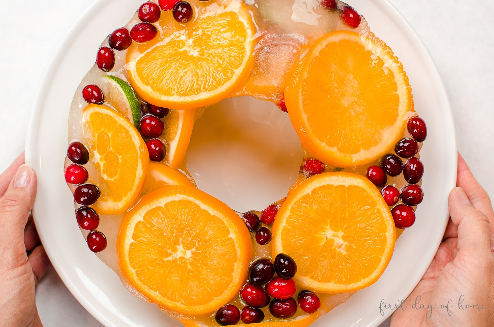 Frozen citrus fruit for Christmas punch recipe