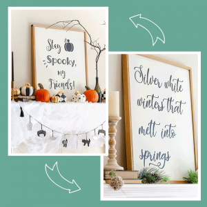 How to Make Reversible Farmhouse Signs – DIY Guide