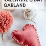 DIY Valentine's Day garland tutorial