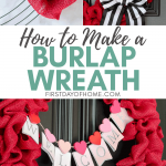 How to make a burlap wreath tutorial with video
