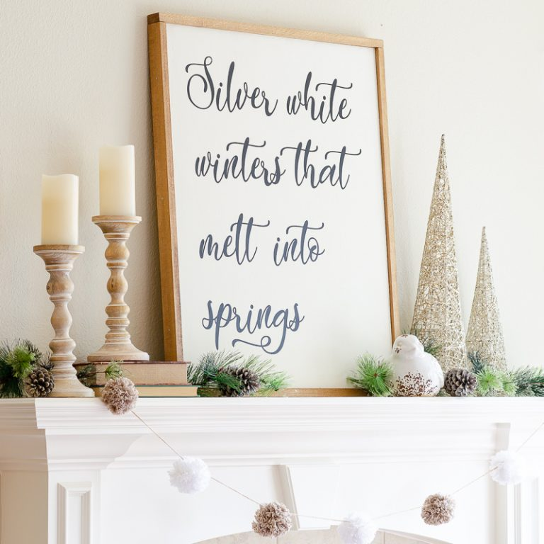 How to Style Easy Winter Mantel Decor for the Season