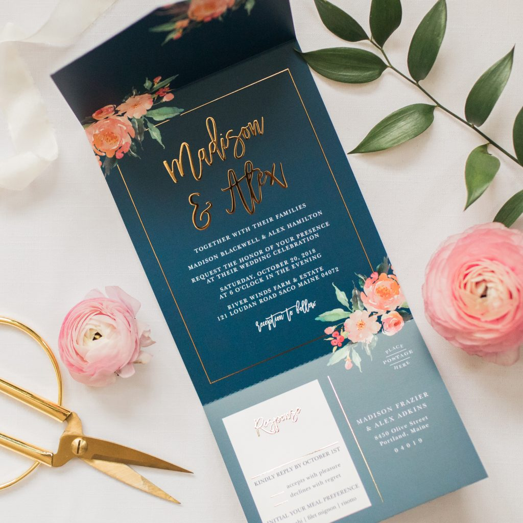Standing Ovation floral invitation from Basic Invite