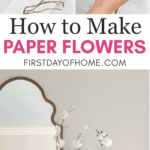 Steps to make DIY tissue paper flowers