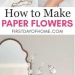 Steps to make DIY tissue paper flowers