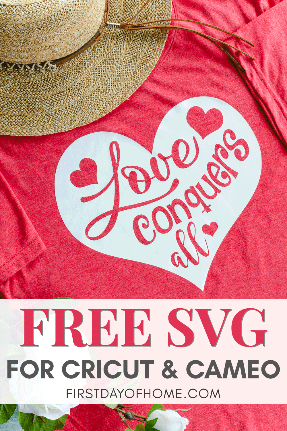 Free Love Conquers All design in SVG and JPEG format