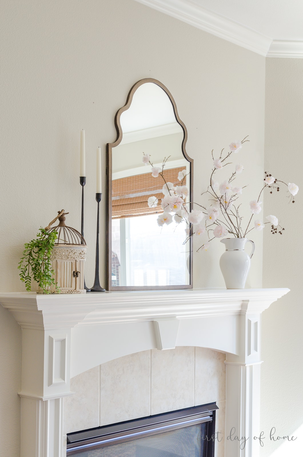 How To Create Simple Spring Mantel Decor You Ll Love