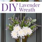 Lavender wreath on front door