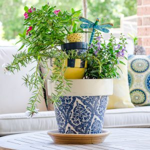 Part 2: How to Decoupage Flower Pots with Napkins