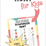 Nature scavenger hunt printable from First Day of Home
