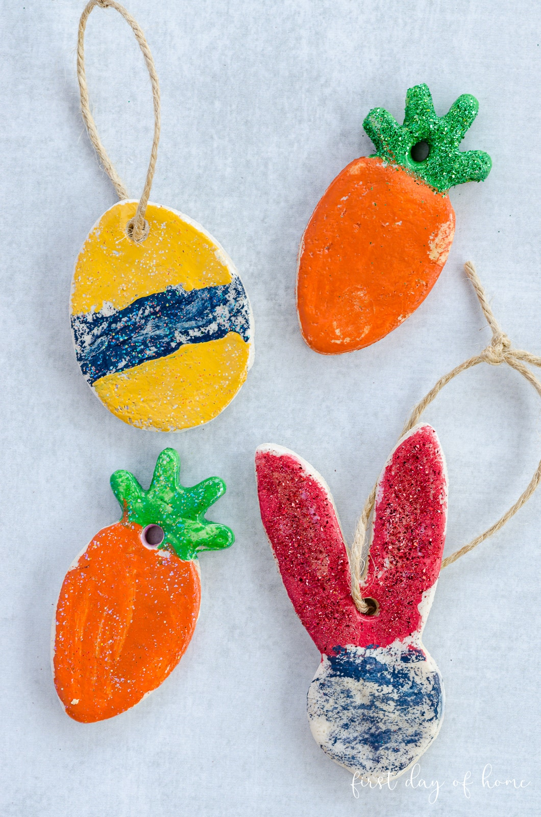 Salt dough ornaments for Easter