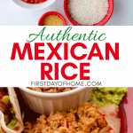 Mexican rice with fresh ingredients