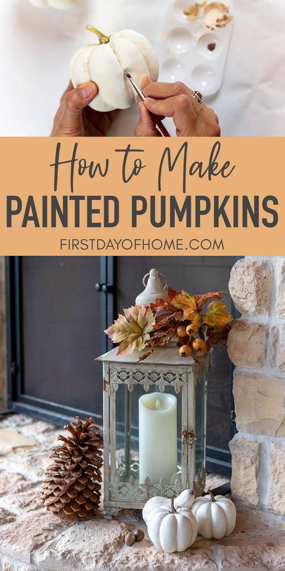 DIY painted pumpkin tutorial and decor