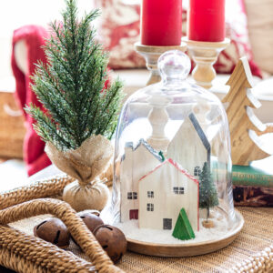 How to Make Mini Wooden Houses with Scrap Wood – A Christmas Cloche Idea