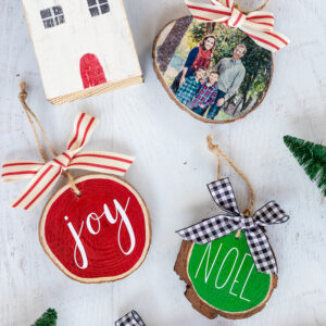 How to Make Easy Wood Slice Ornaments Two Ways