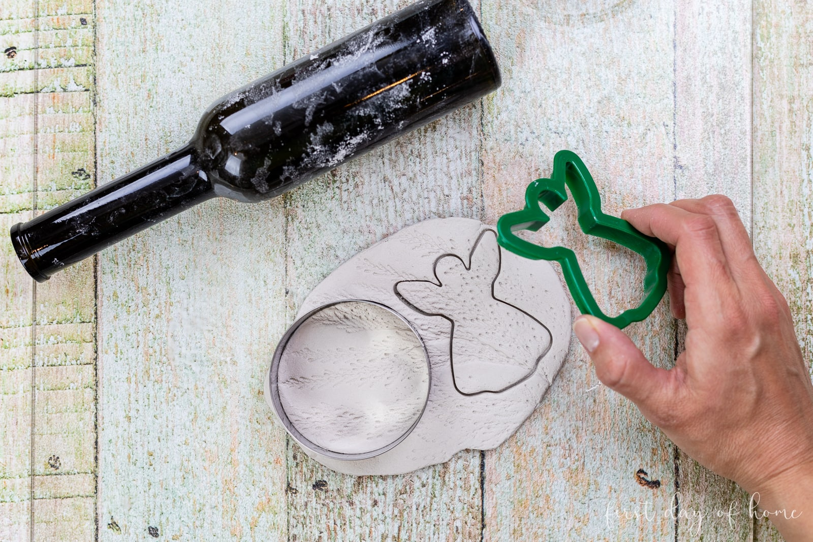 Cutting shapes in air dry clay