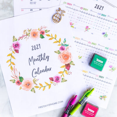 The Printable 2021 Calendar and Planner is Here!