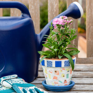How to Make Gorgeous DIY Mosaic Flower Pots