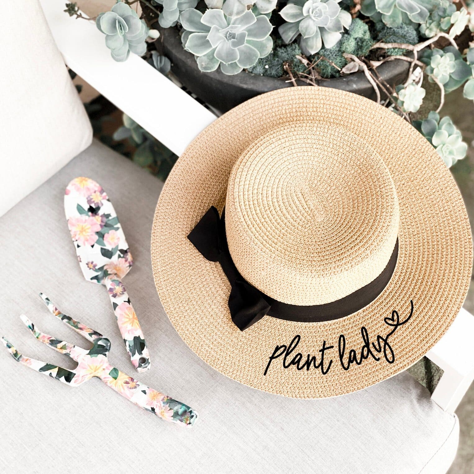 Plant Lady Embroidered Hat