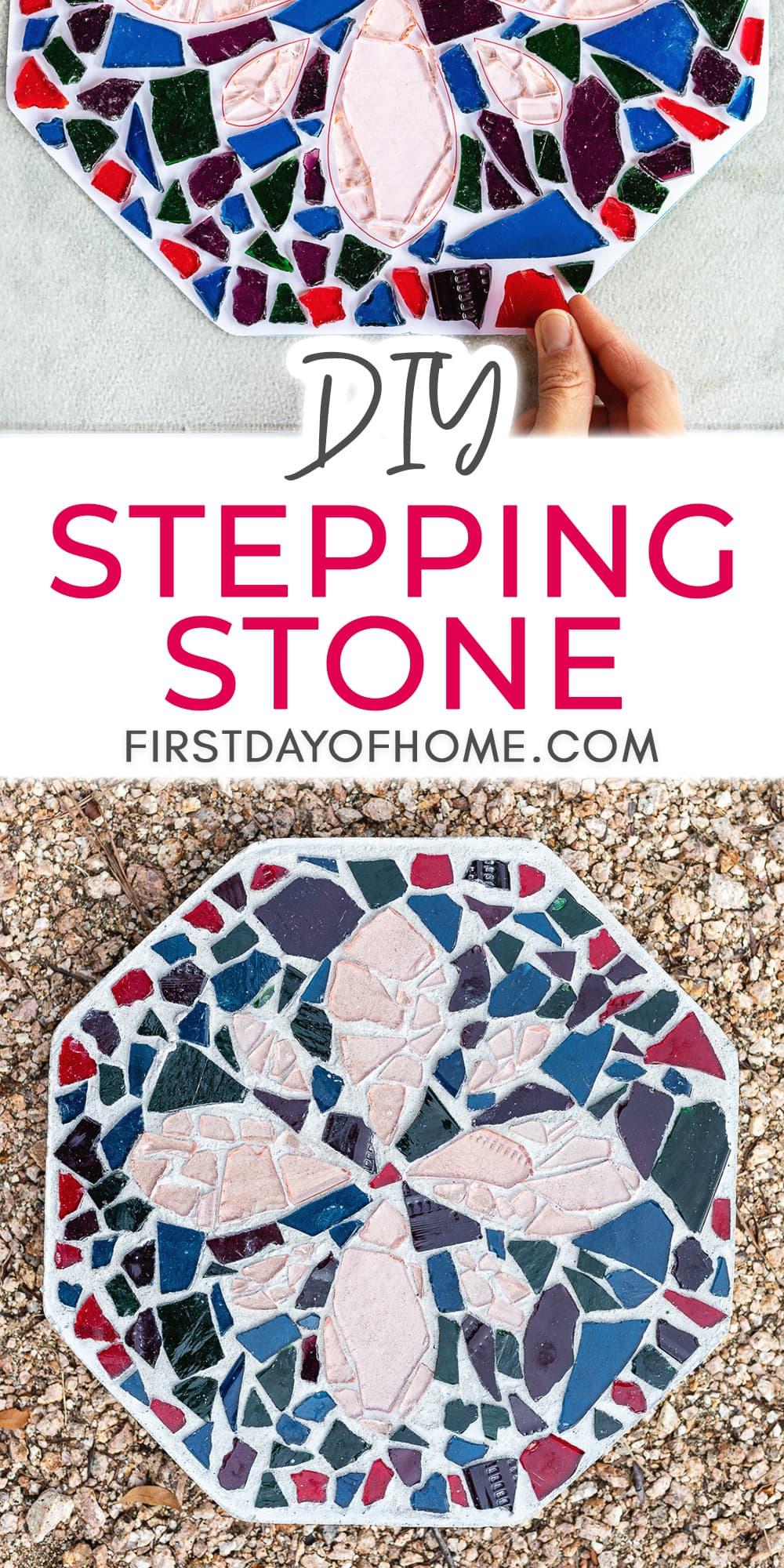 How to Make Beautiful DIY Mosaic Stepping Stones