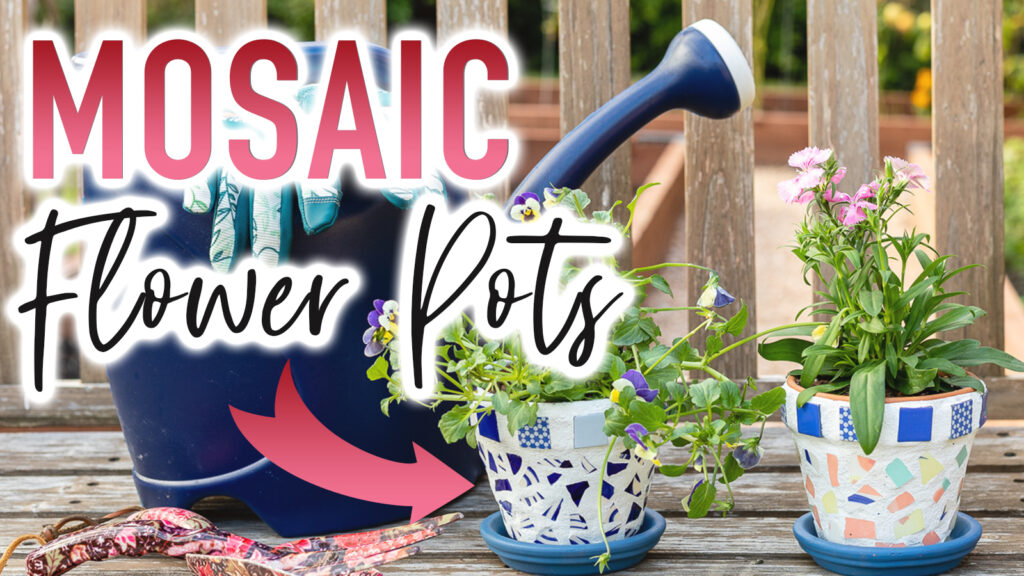 Thumbnail for mosaic flower pots YouTube video