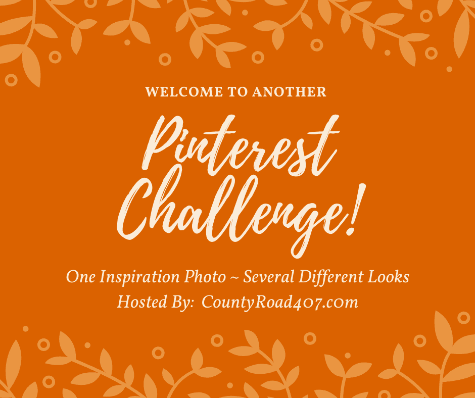 Pinterest Challenge graphic for monthly challenge to recreate an inspiration photo